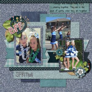 Spirited digital scrapbook page by Shilo