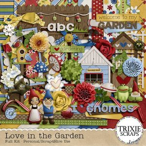Love In The Garden digital scrapbook kit
