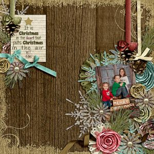layout by Carrin using Winter Carolers by Trixie Scraps