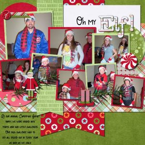 Oh My Elf! digital scrapbook layout by Shilo