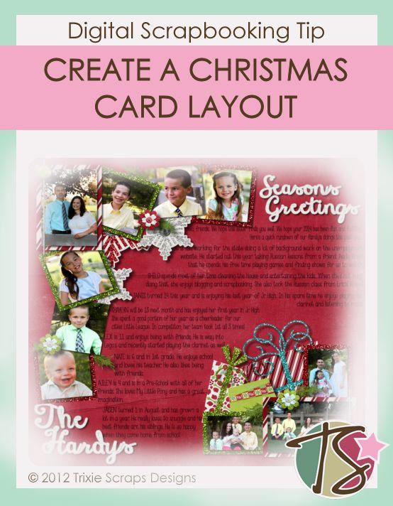 Pinterest Image Christmas Card Layout