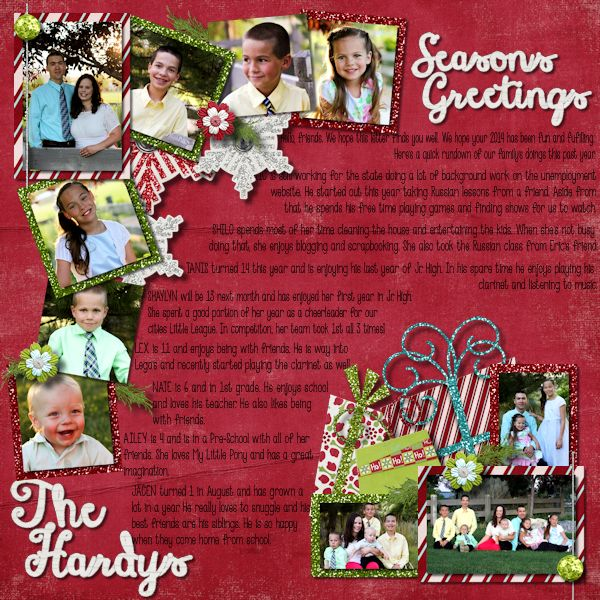 Seasons Greetings layout by Shilo