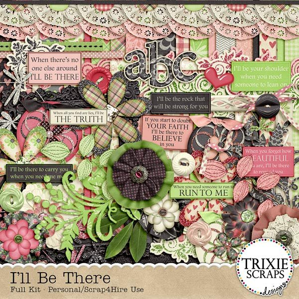 I'll Be There Digital Scrapbooking Kit