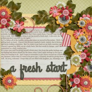 Digital Scrapbook Layout using A Life That's Good by Trixie Scraps