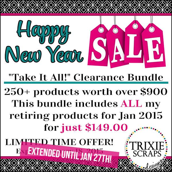 Trixie Scraps Sale Extended