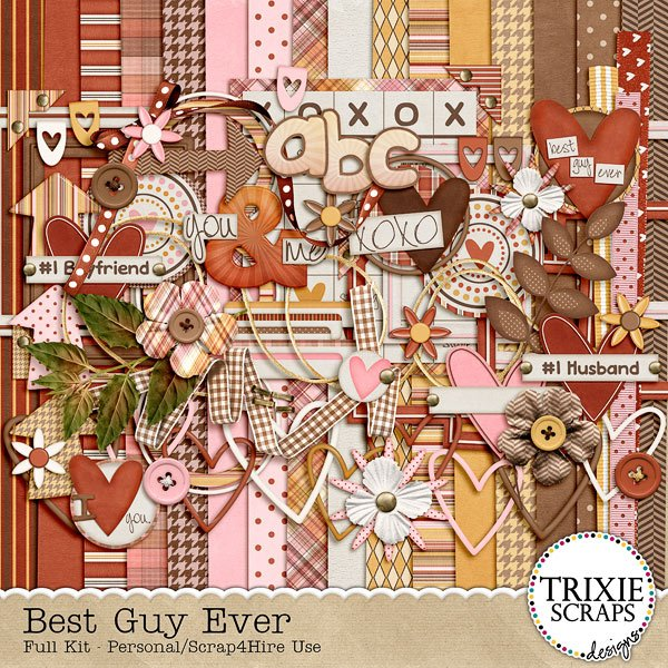 Best Guy Ever Digital Scrapbook kit by Trixie Scraps