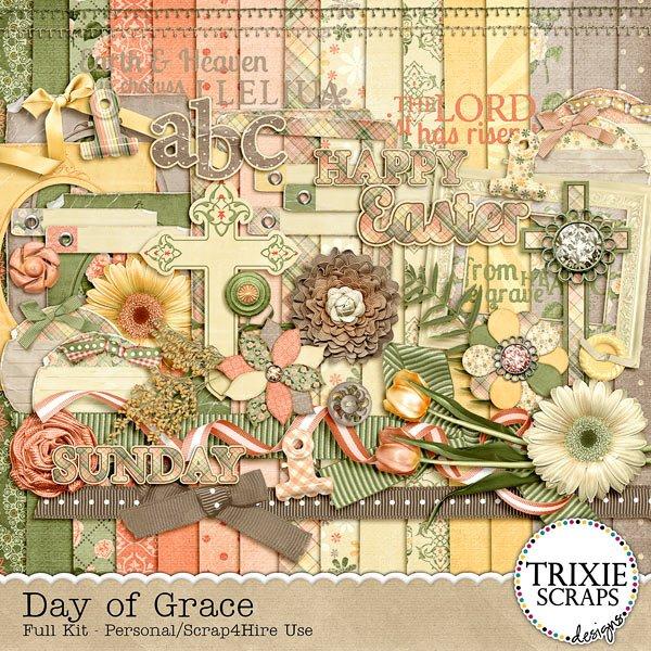 Day of Grace Digital Scrapbook kit by Trixie Scraps