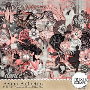 Digital Scrapbook Kit - Prima Ballerina
