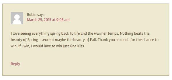 SRS Winner Comment April 19