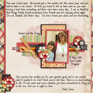 Apples for Teacher layout by Stacy