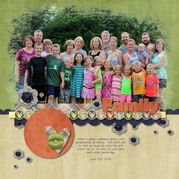 Family page by Scrap Star Jennifer