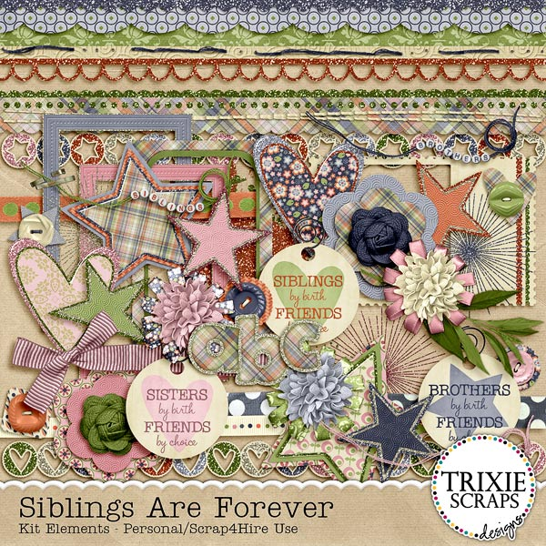 Siblings are Forever Kit by Trixie Scraps