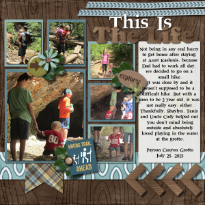 This Is The Life Digital Scrapbook Layout