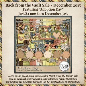 Adoption Day Vault Sale