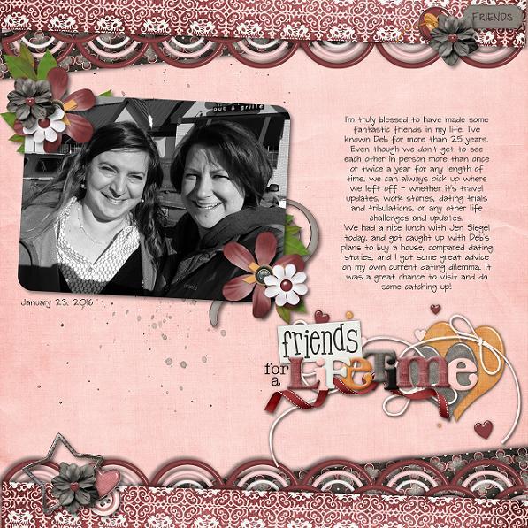 Friends for a Lifetime page by Scrap Star Jennifer
