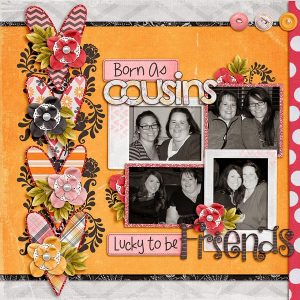 Heart of a Friend Layout by Tracy