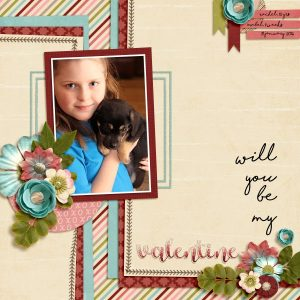 Layout by Stacy using Ewe Loves Ya? kit