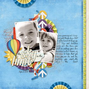 Blue Skies Ahead Layout by Carrin