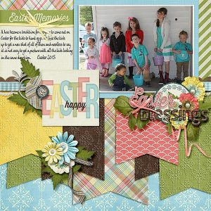 His Glory Layout by Debbie