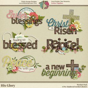 His Glory Digital Scrapbooking Wordart