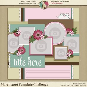 March 2016 Template Freebie
