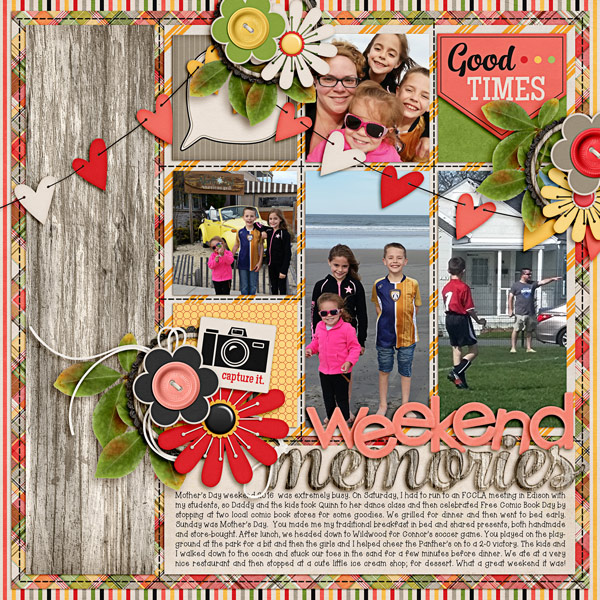 Easy Like Sunday Morning - A Photo Challenge layout by Carrin