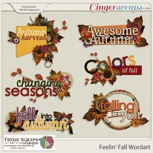 Feelin' Fall Wordart