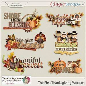 The First Thanksgiving Wordart