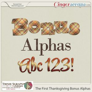 The First Thanksgiving Bonus Alphas