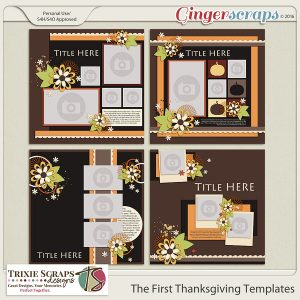 The First Thanksgiving Templates