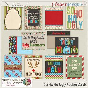 So Ho Ho Ugly Pocket Cards