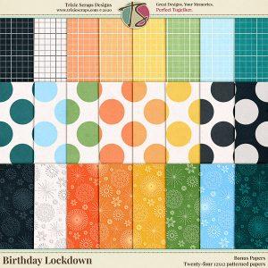 Birthday Lockdown Digital Scrapbooking Bonus Papers