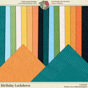 Birthday Lockdown Digital Scrapbooking Cardstock