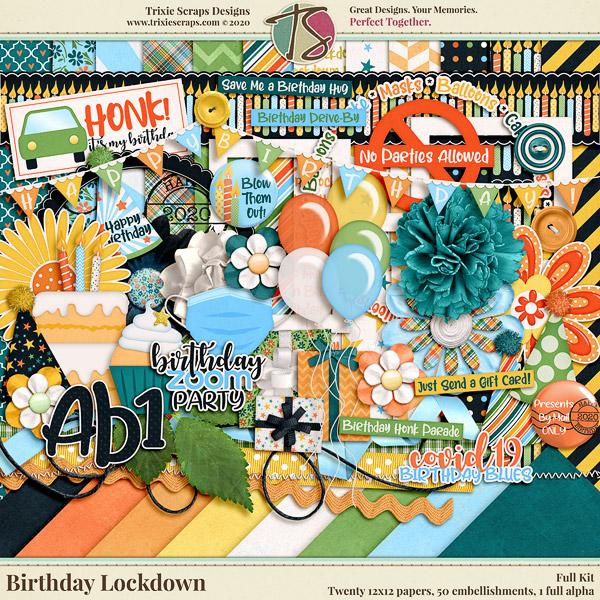Birthday Lockdown Digital Scrapbooking Kit
