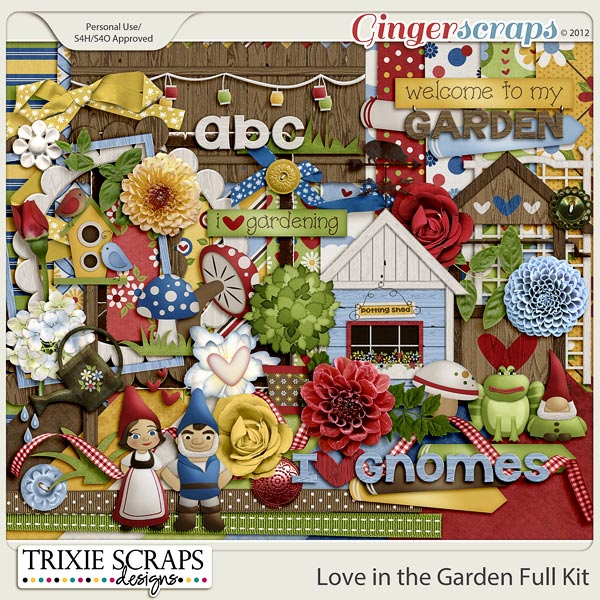 Love in the Garden Kit by Trixie Scraps Designs