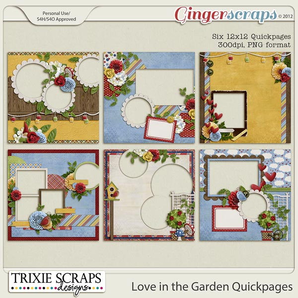 Love in the Garden Quickpages by Trixie Scraps Designs