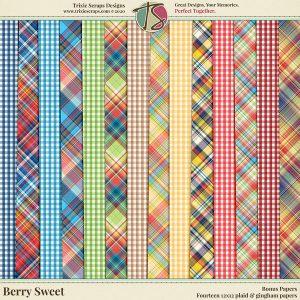 Berry Sweet Digital Scrapbooking Bonus Papers