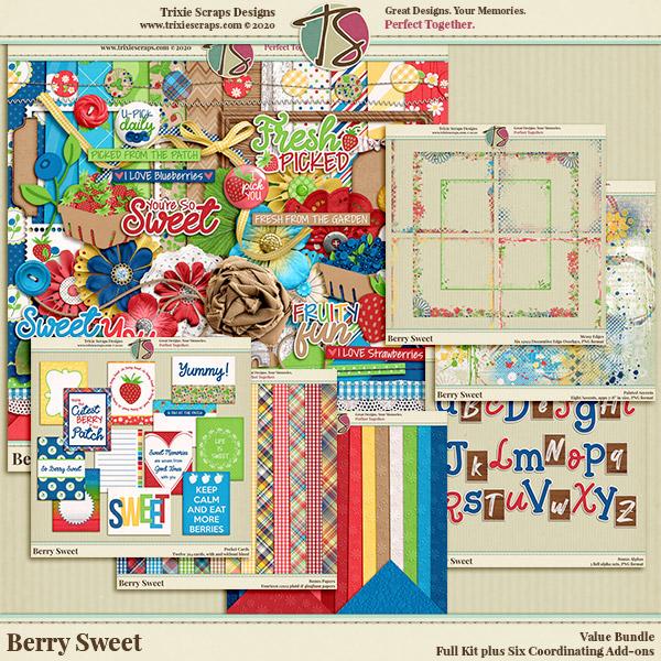 Berry Sweet Digital Scrapbooking Bundle