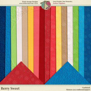 Berry Sweet Digital Scrapbooking Cardstock