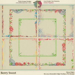 Berry Sweet Digital Scrapbooking Messy Edges