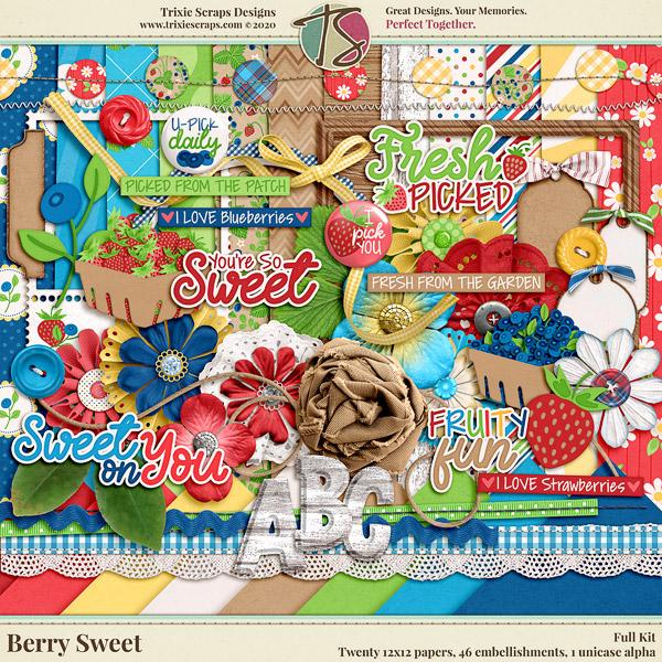 Berry Sweet Digital Scrapbooking Kit