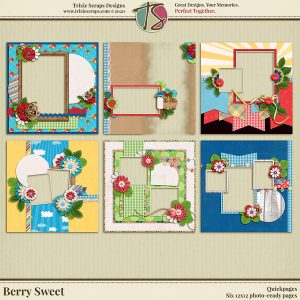 Berry Sweet Digital Scrapbooking Quickpages