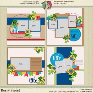 Berry Sweet Digital Scrapbooking Templates