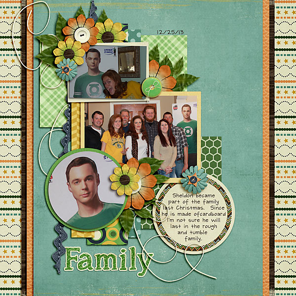 Family digital scrapbook page by Shauna